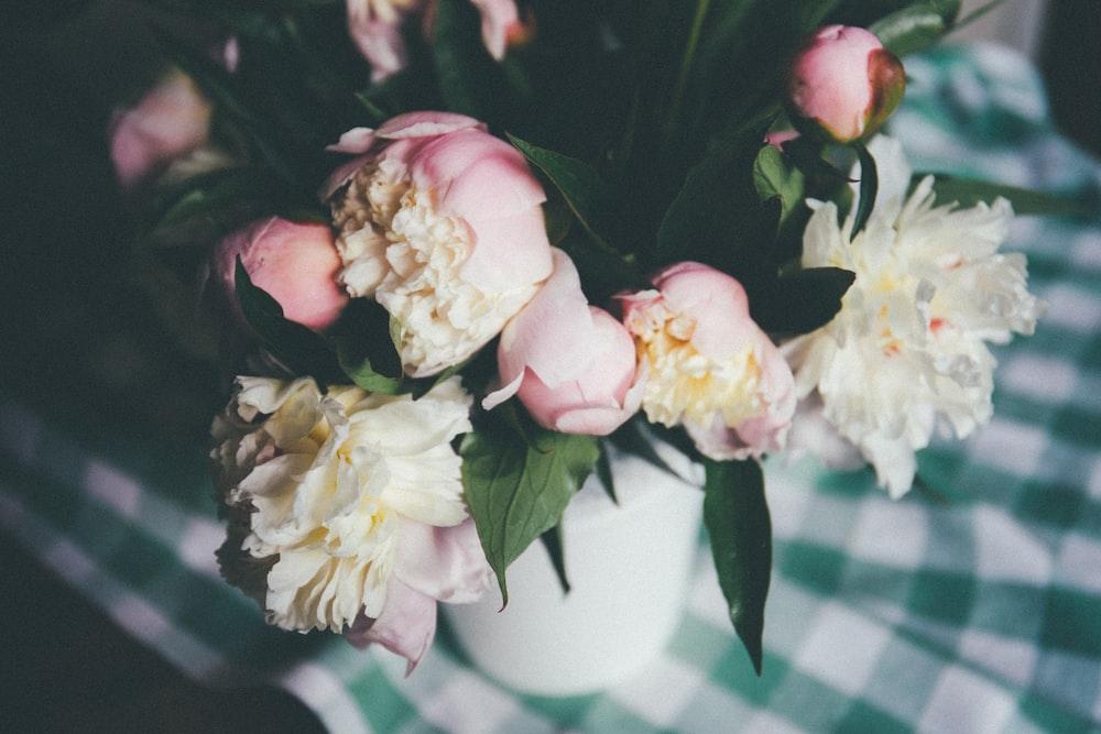 tilt-shift photography of flowers