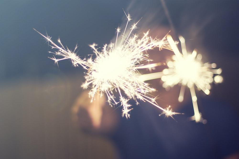 white sparkler