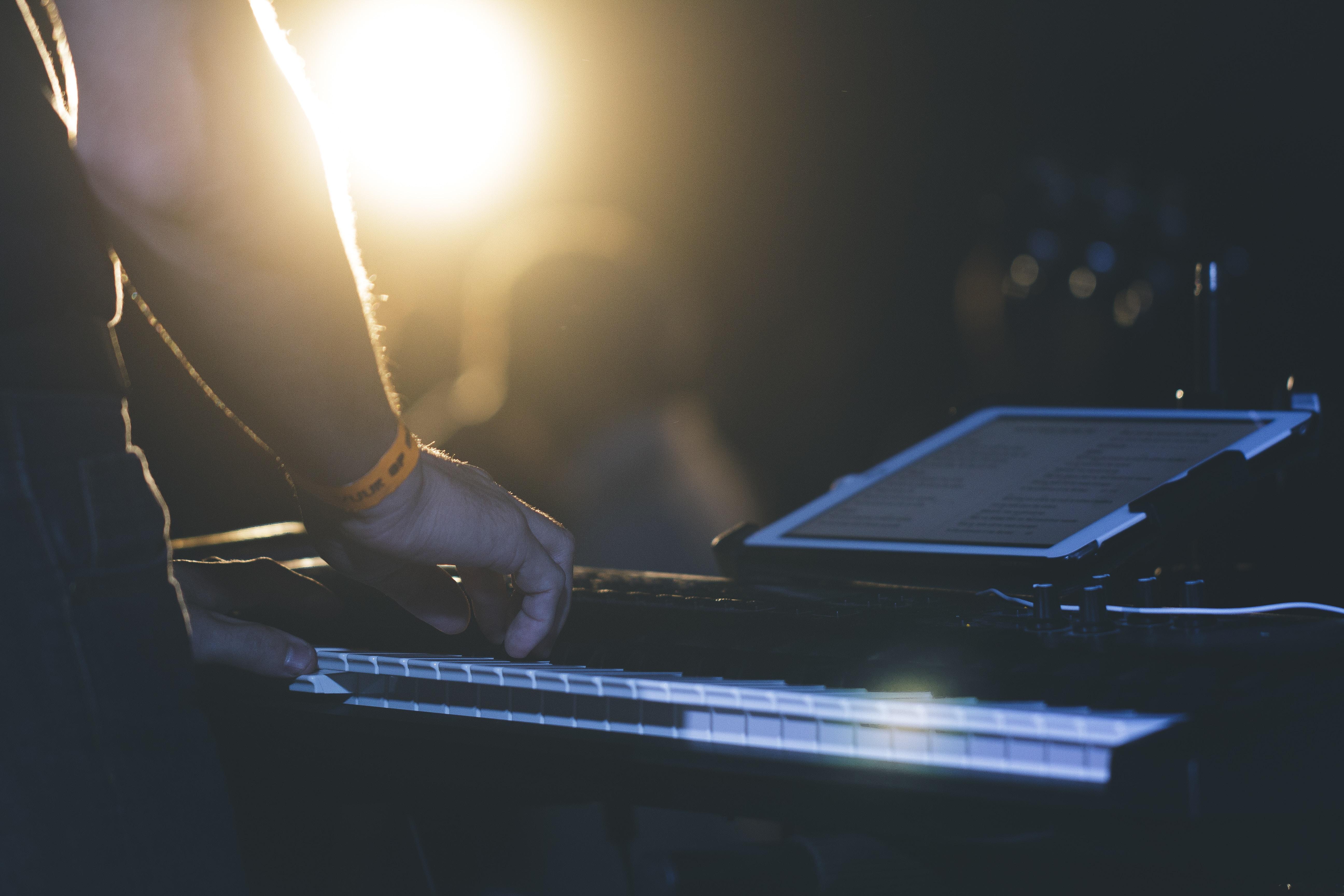 man playing DJ