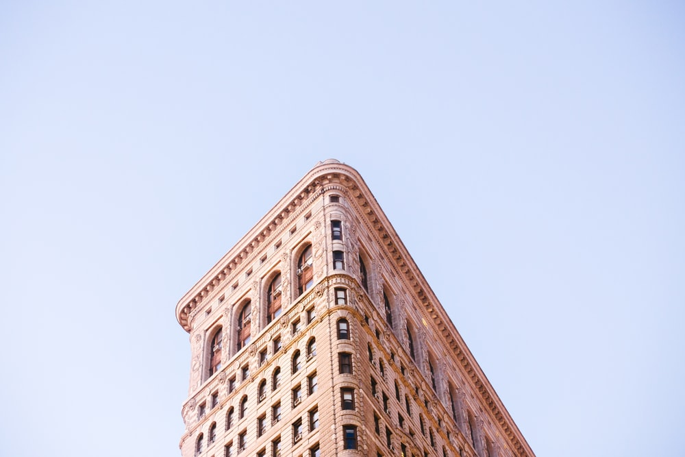 low-angle photo of concrete building