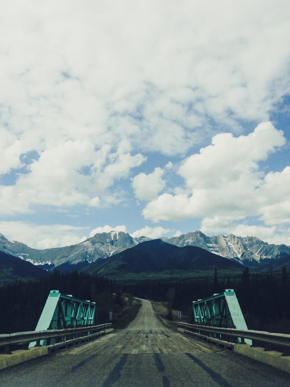 bridge towards mountain