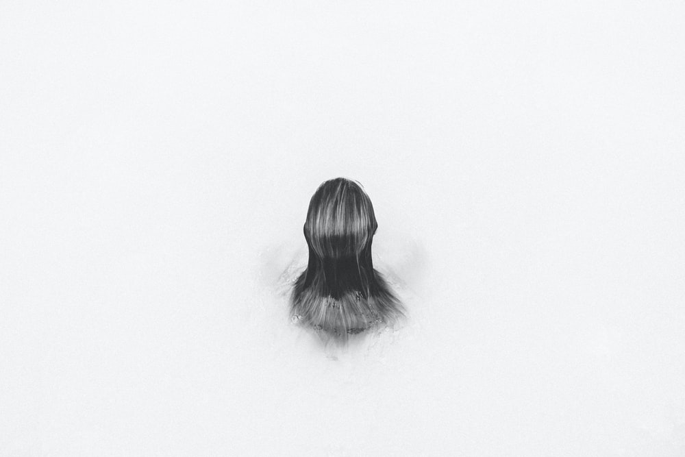 sketch of human hair