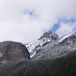 Snowy mountains.