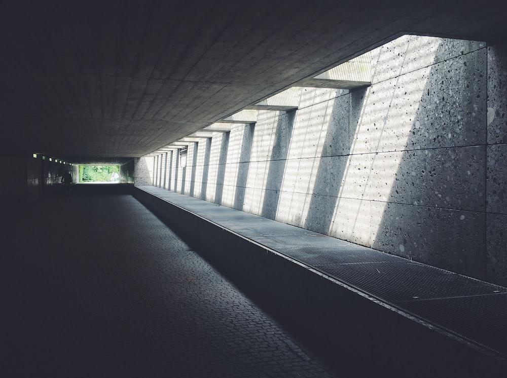 concrete tunnel