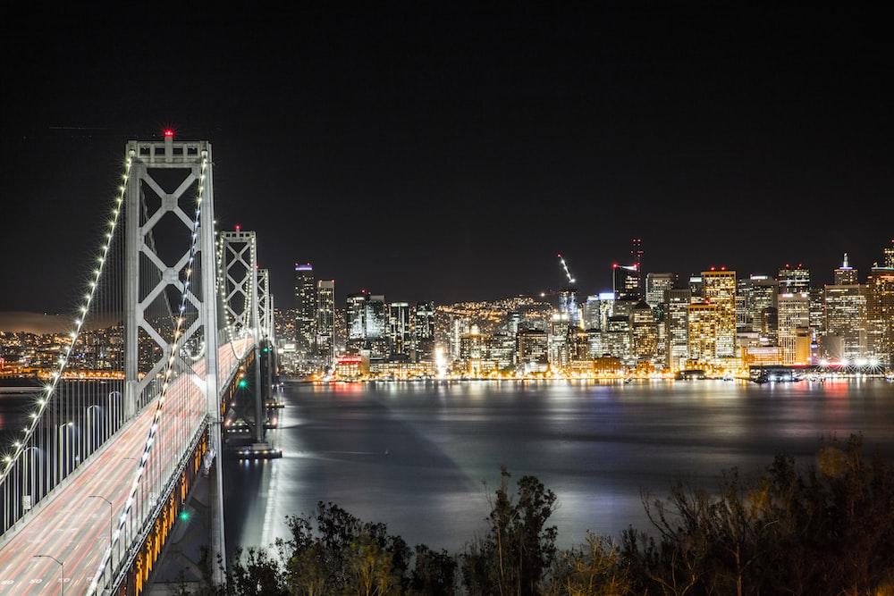 bridge beside city