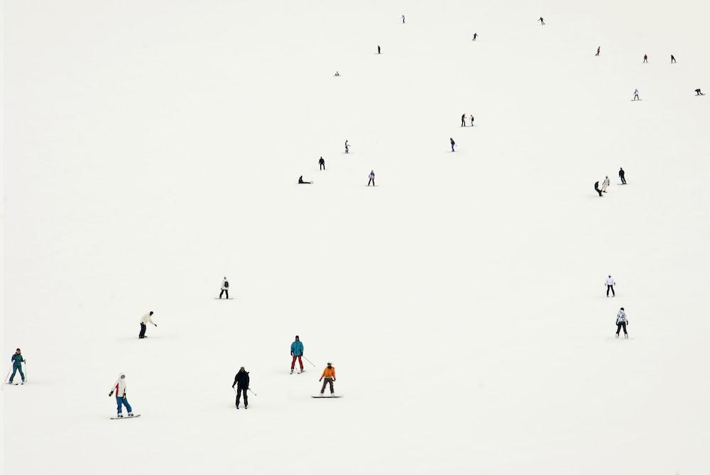 people walking digital wallpaper