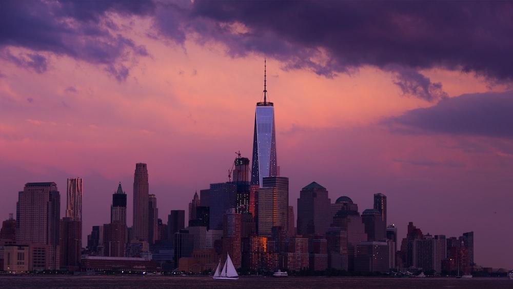 panoramic photography of city skyline