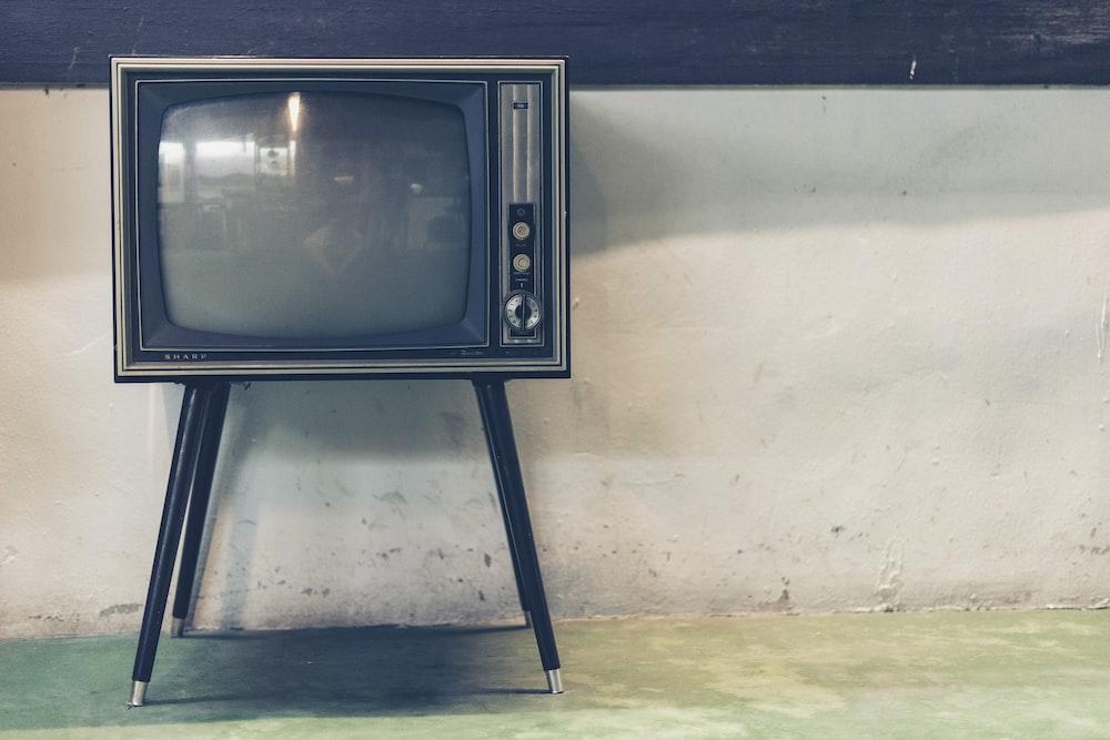 turned off vintage CRT television