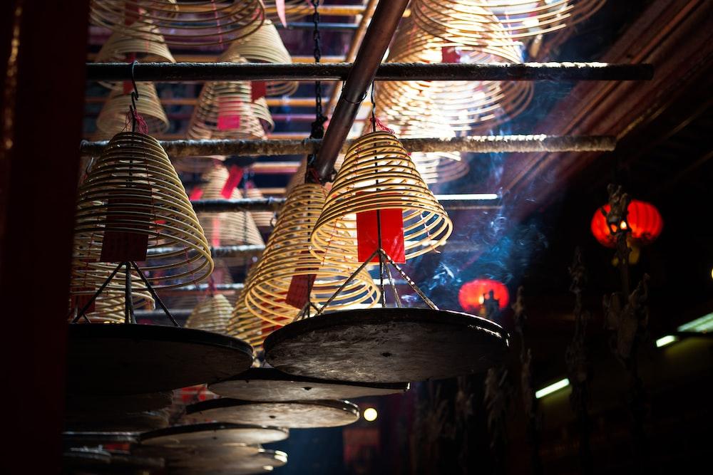 brown hanged pendant decoration