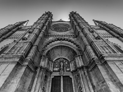 Architecture Building Structure Establishment Windows Black And White Monochrome Church Religion Devotion
