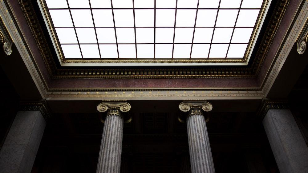 focus photo of ceiling