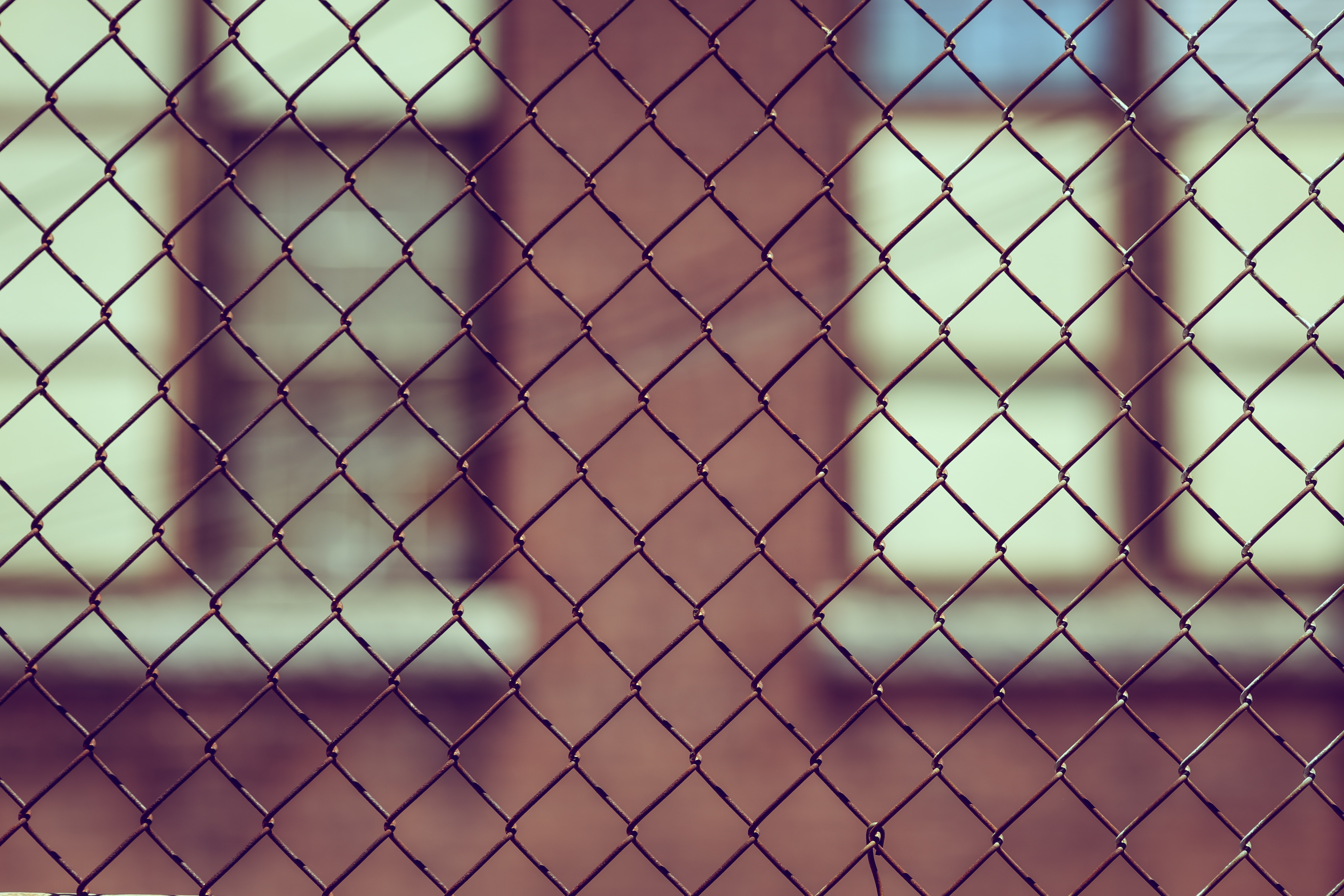 black chain-link fence