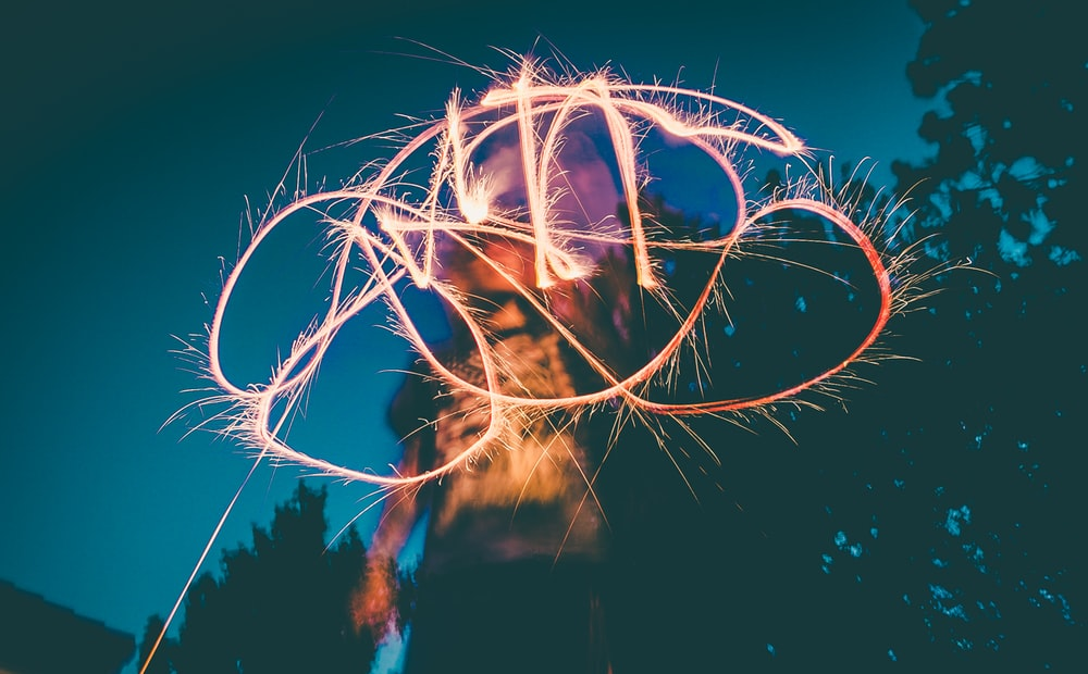 person using light drawing