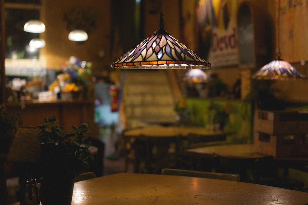 macro shot photography of pendant lamp