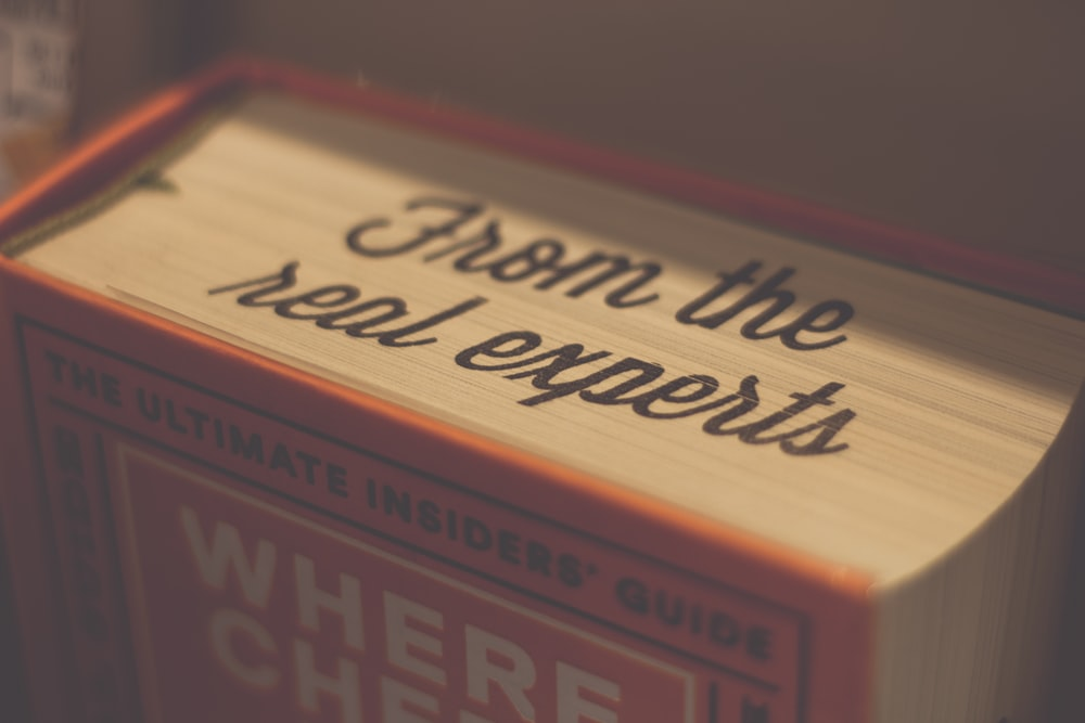 red and brown book