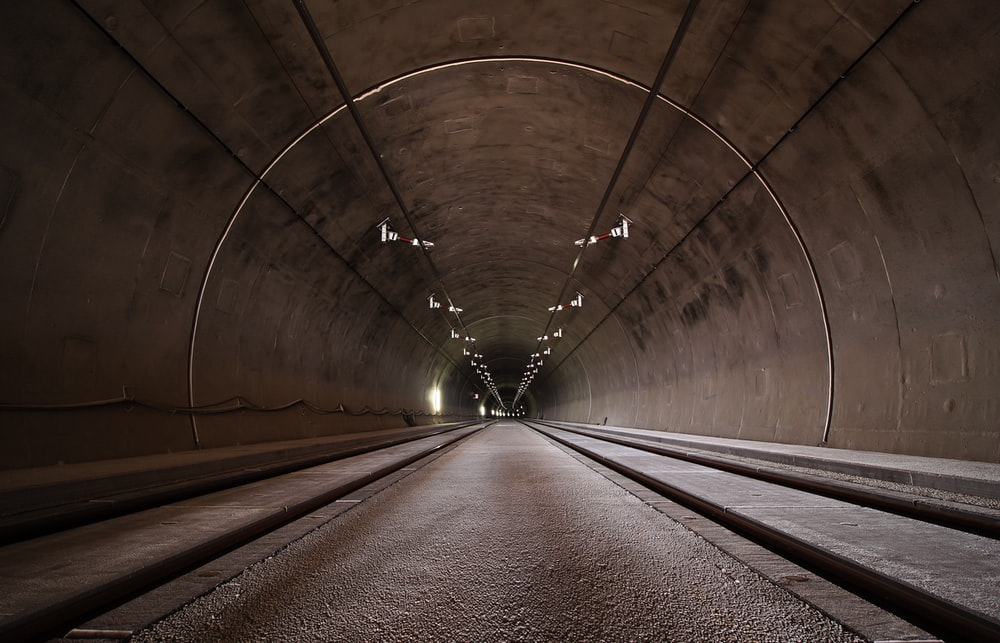 landscape photography of tunnel