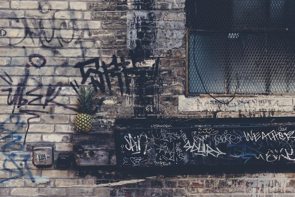 pineapple fruit on top of brown edge