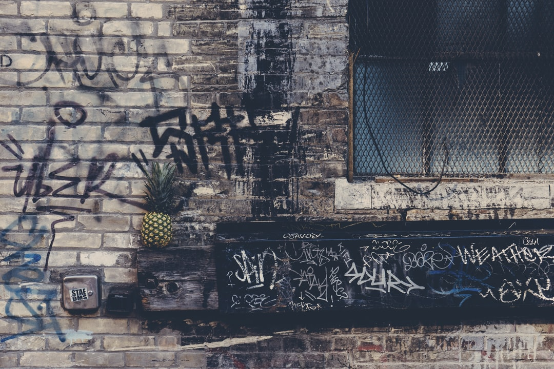 pineapple and graffiti