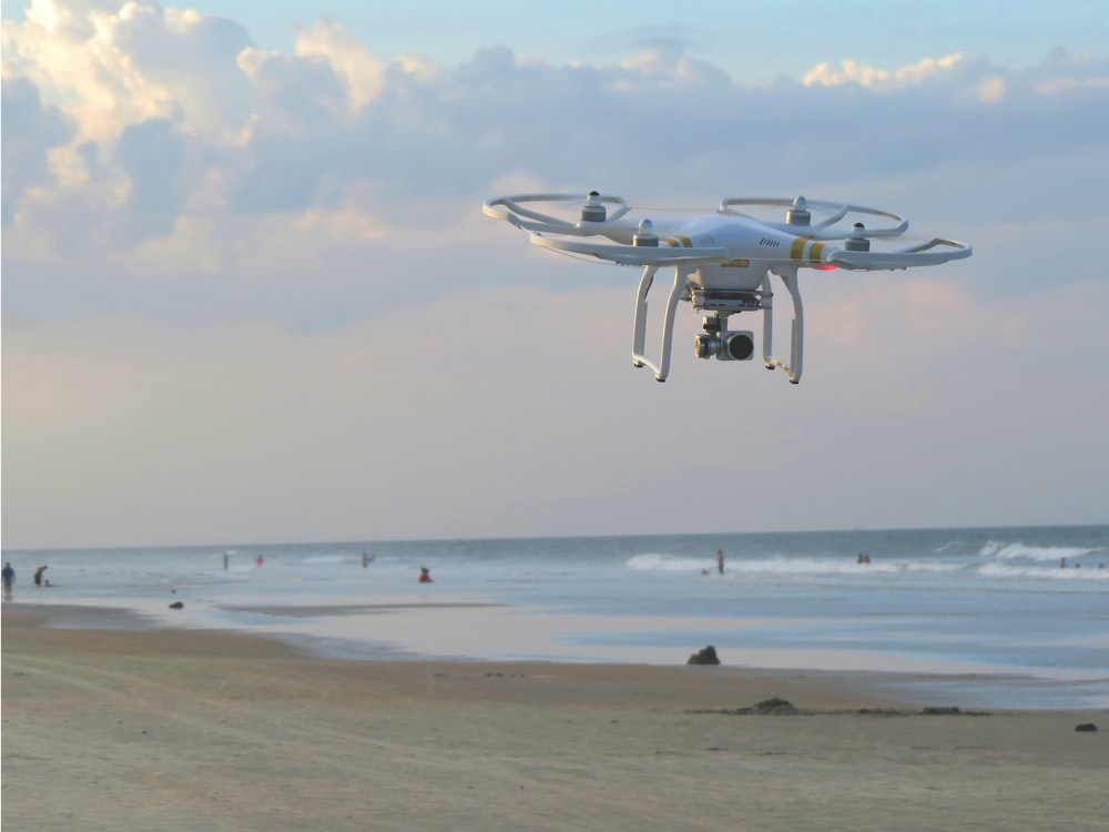 DJI Phantom 3 Standard at seashore