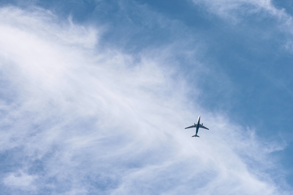 white passenger plane on sky during daytime