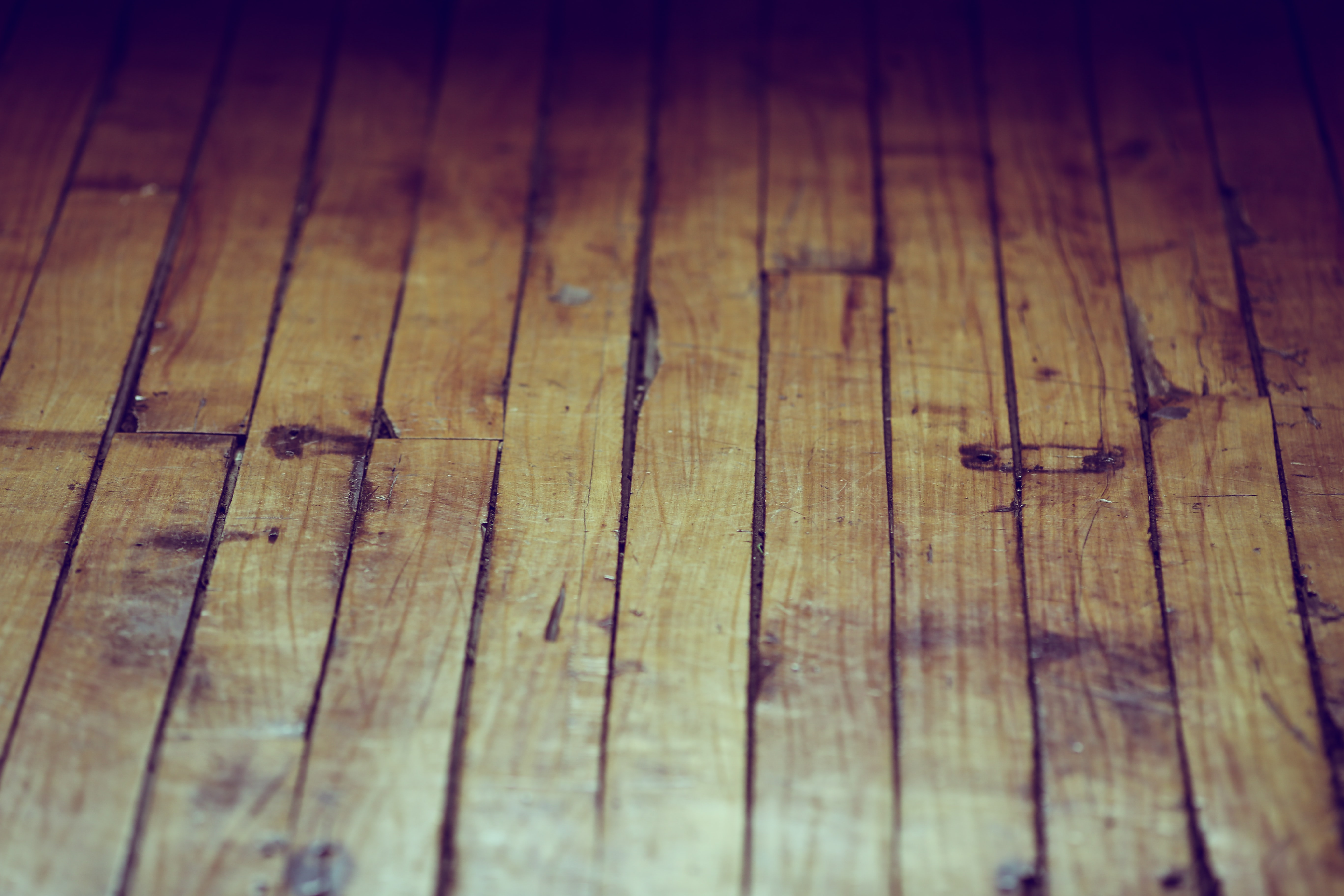 Close-up of an old wooden floor