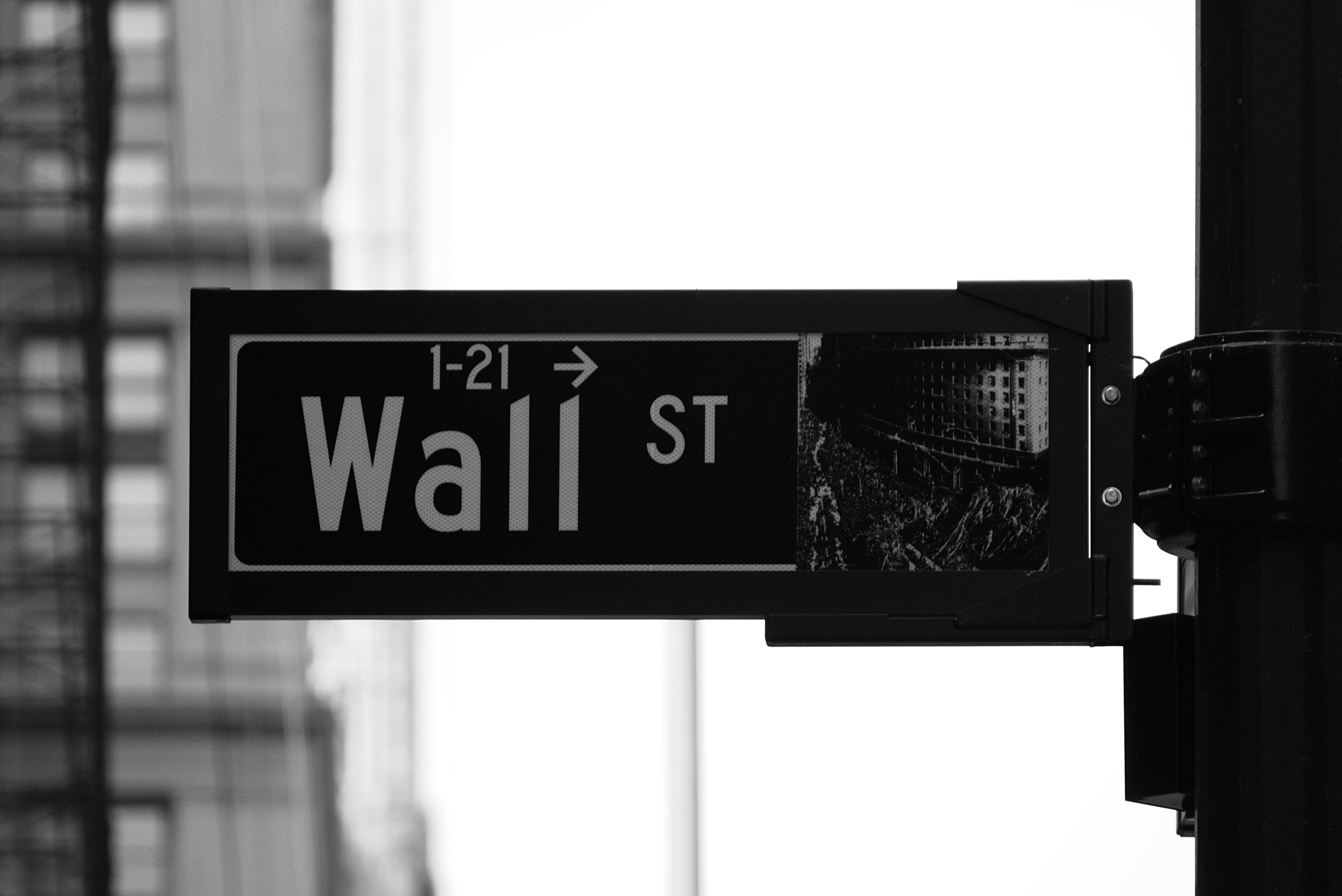 wall st. sign