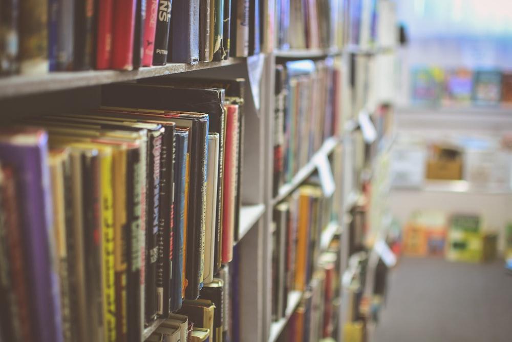 books organized in a shelf