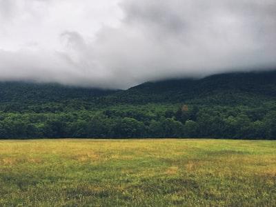 Fog over Catskill Mountains