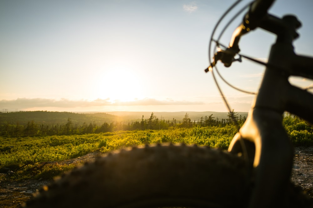 fat bike and sunset
