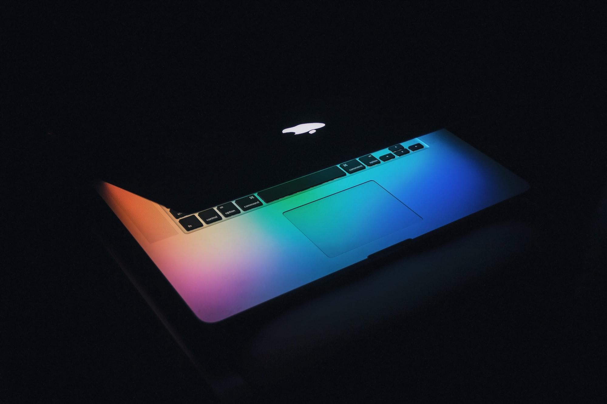 Colorful MacBook keyboard