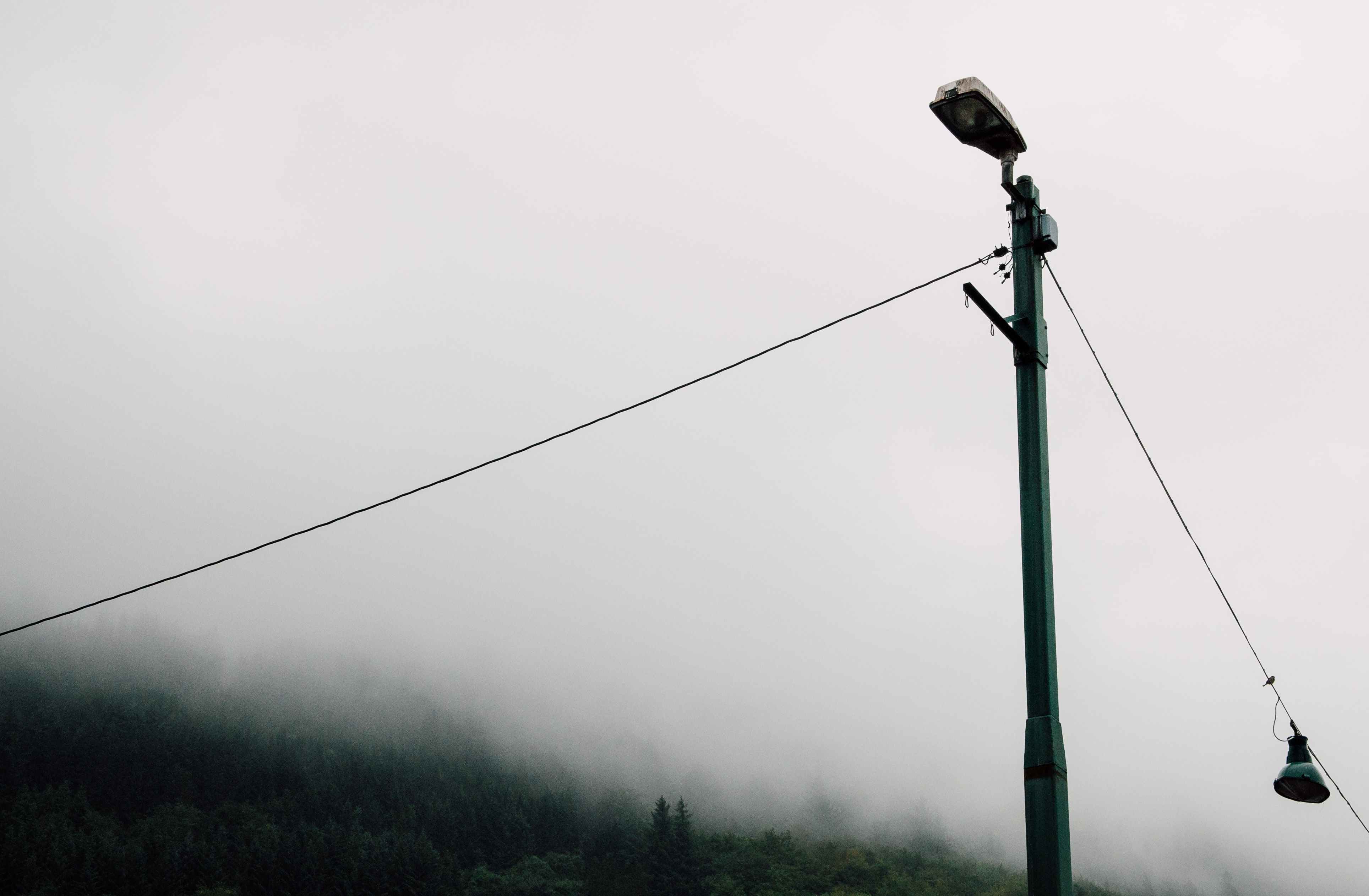 grey lamppost