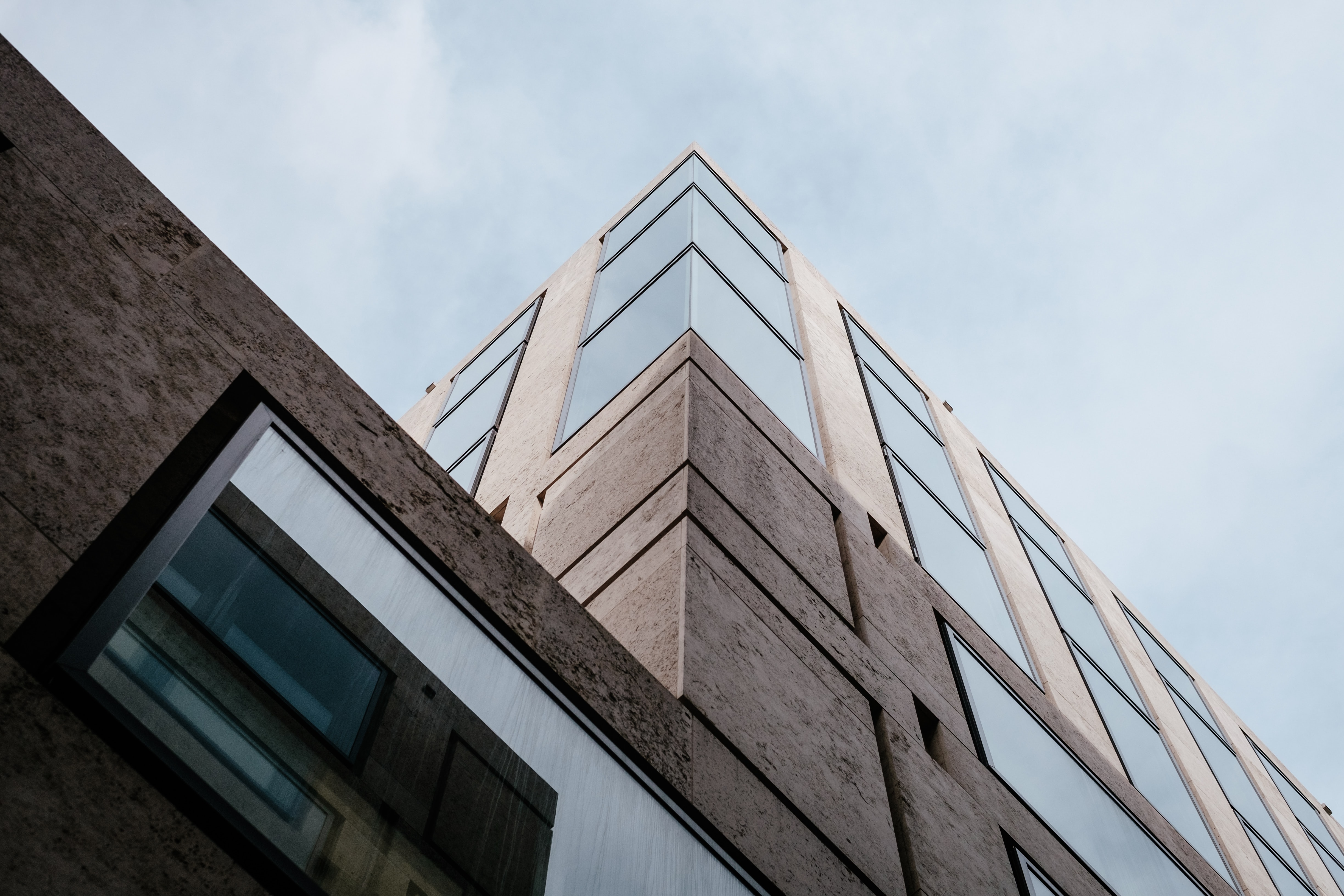 worm's eye view of gray concrete building