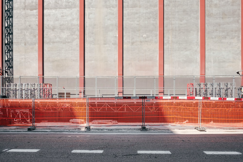 concrete road near building