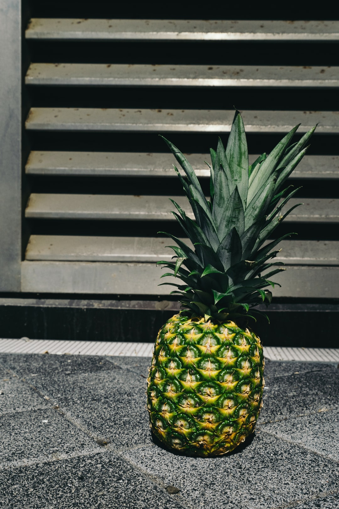 pineapple in urban scene for high-res download