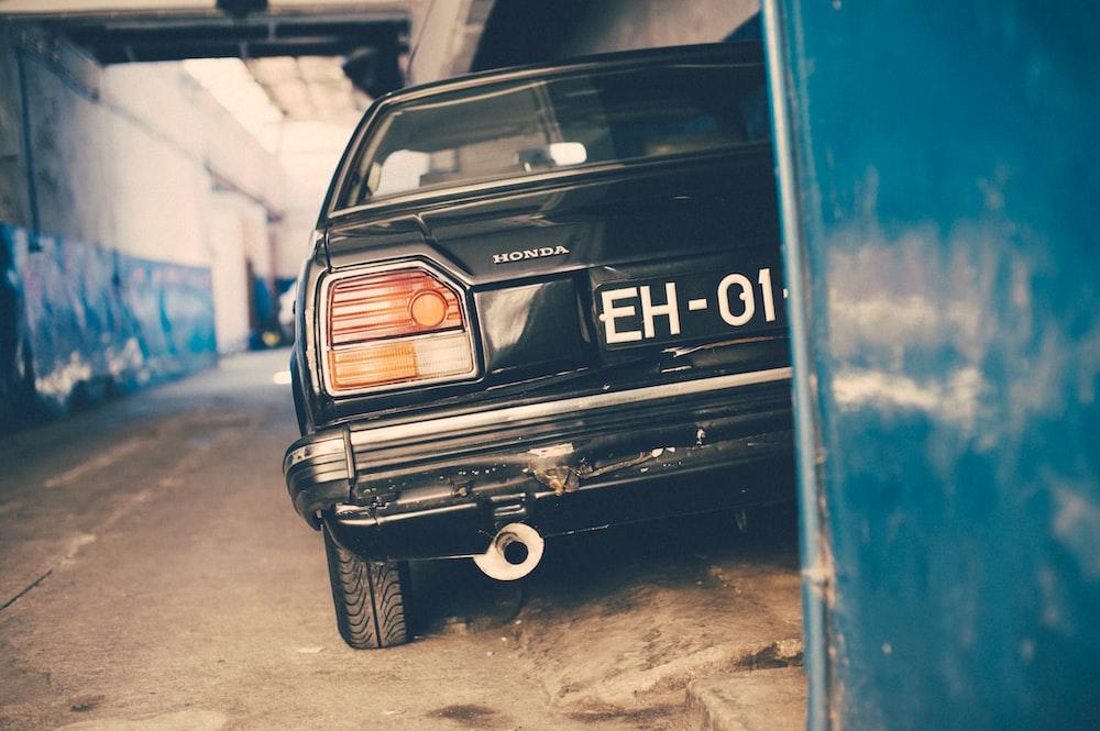black Honda car