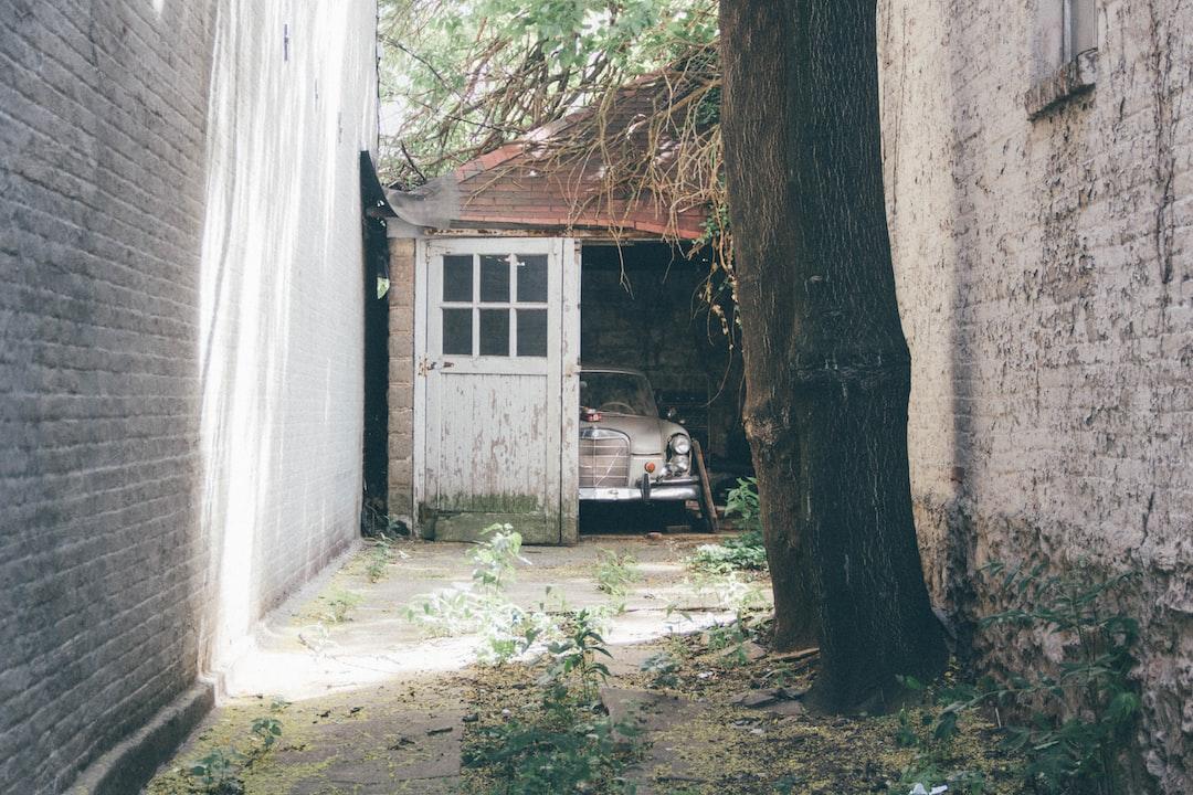 retro vehicle old garage