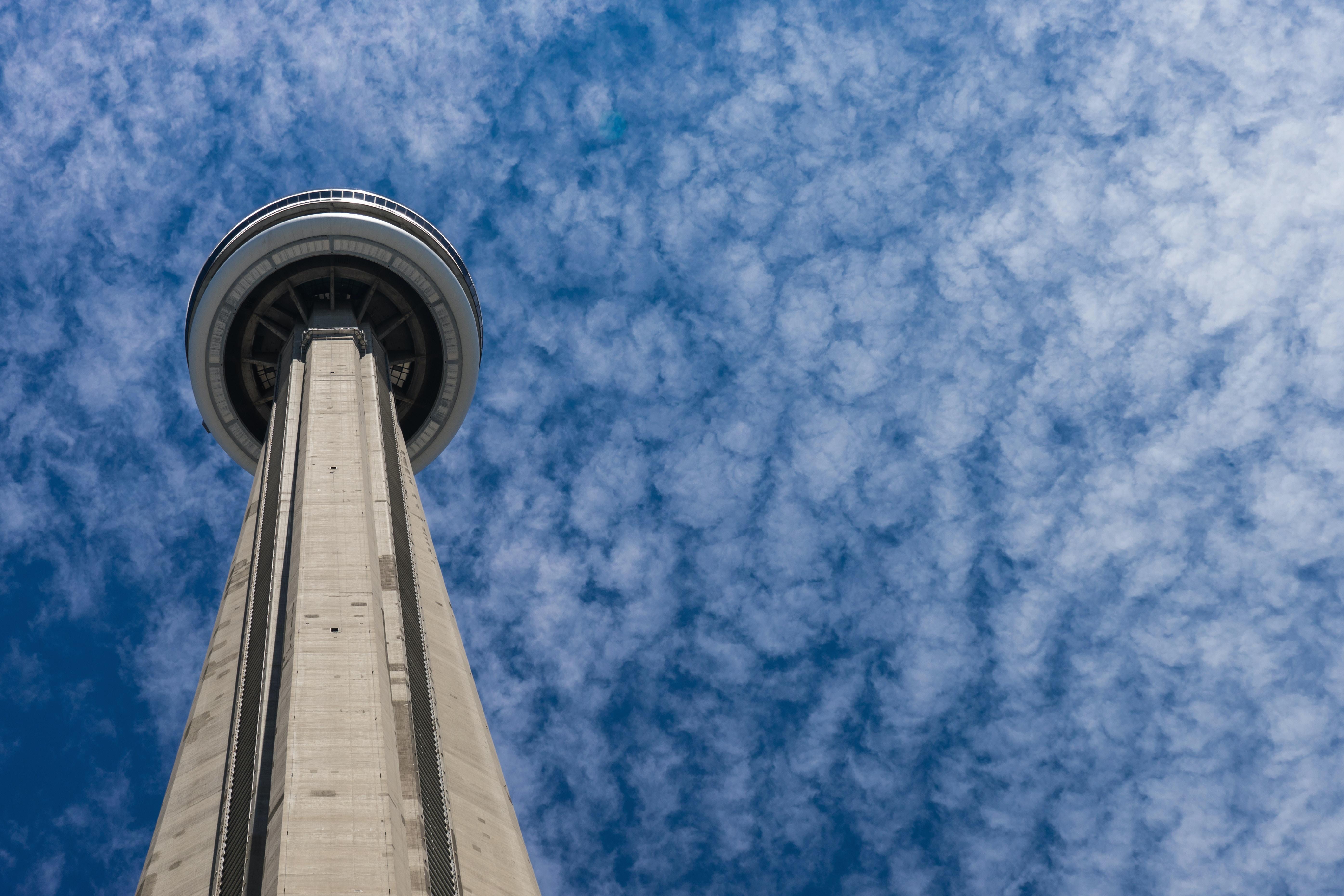 focus photo of CN tower