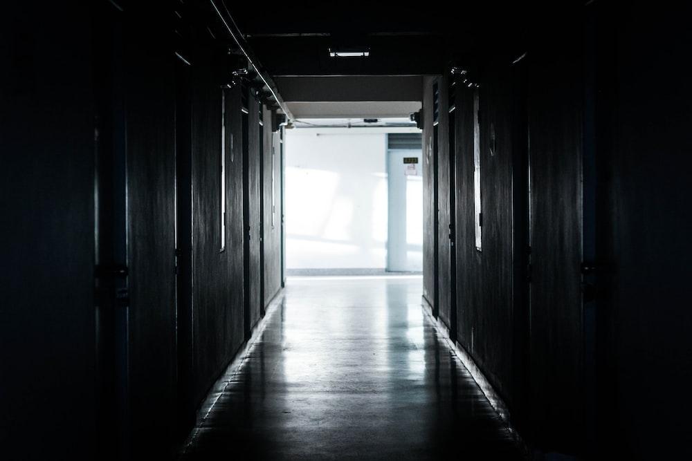 poor lighted hallway