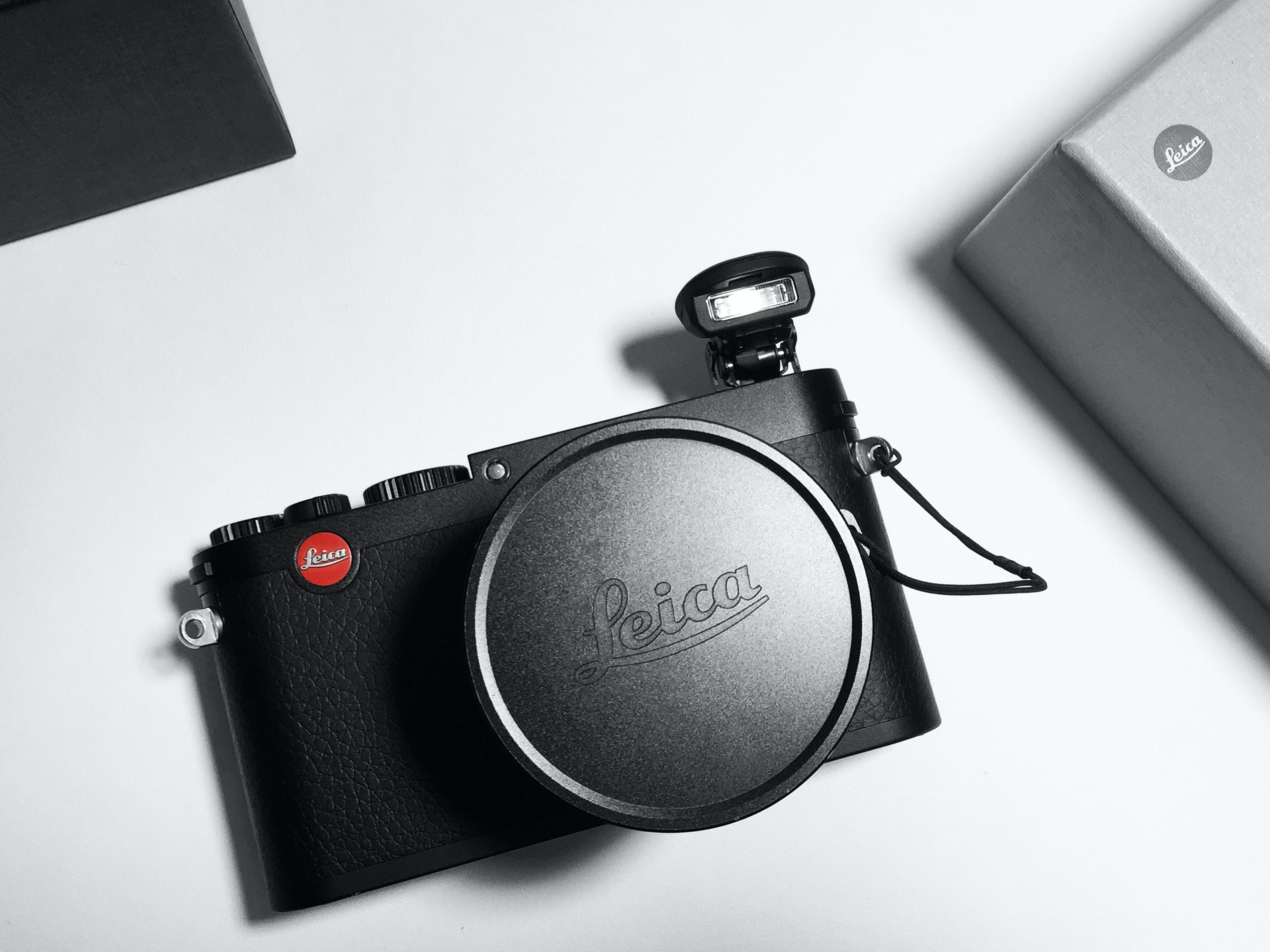 black Leica camera