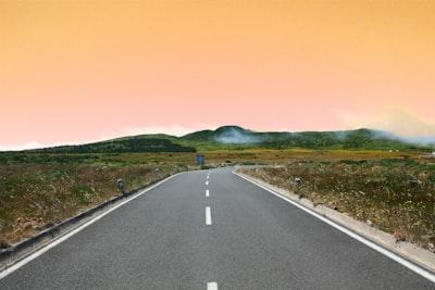 Open Road and Orange Sky