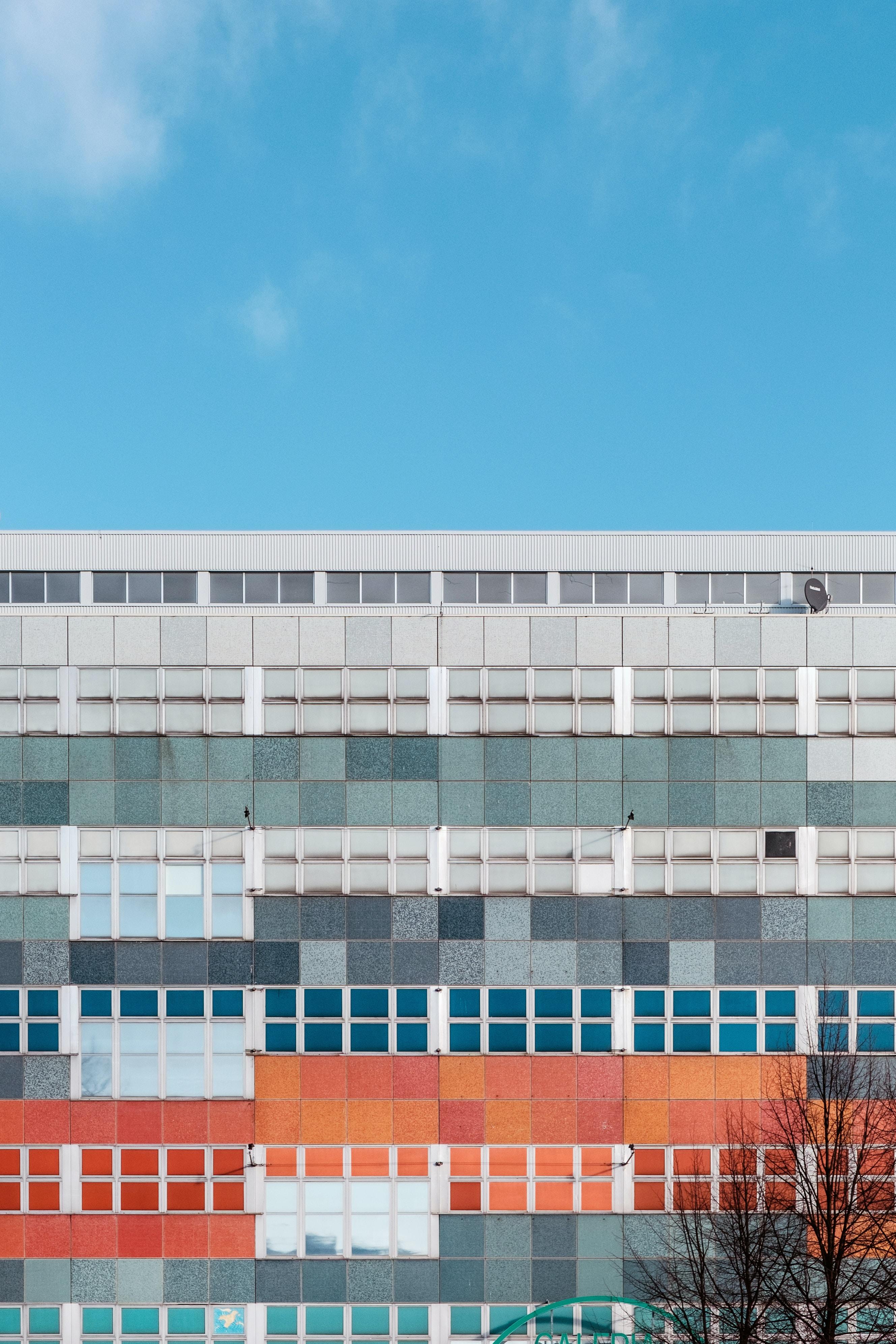 multicolored window building