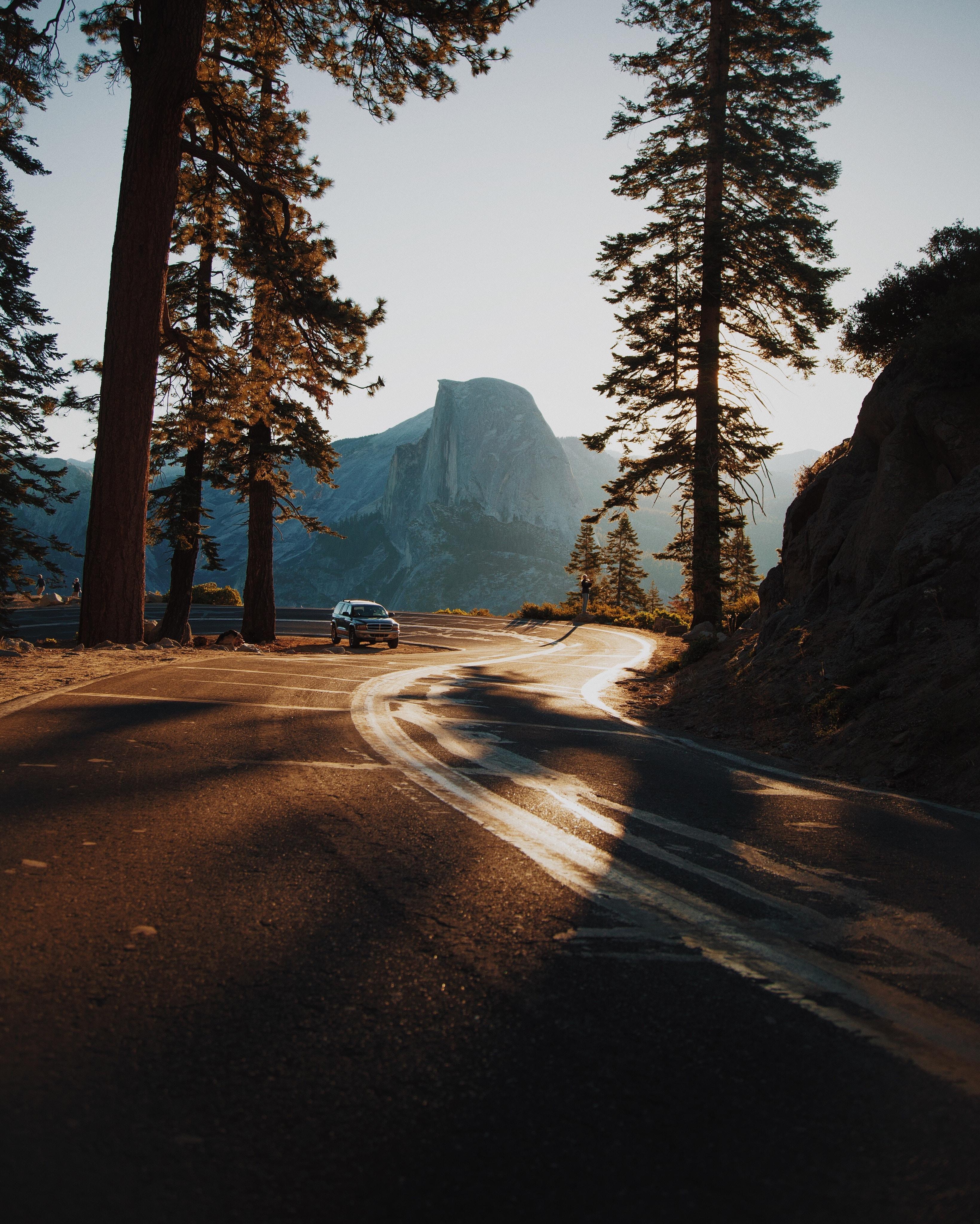 Driving through California during golden hour