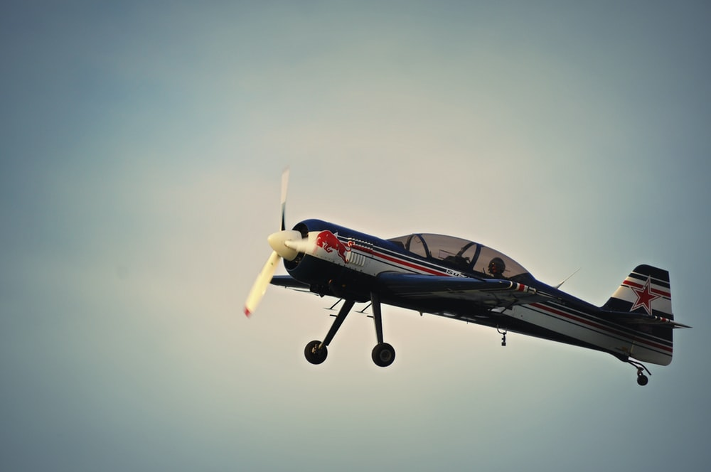 photo of Red Bull print plane
