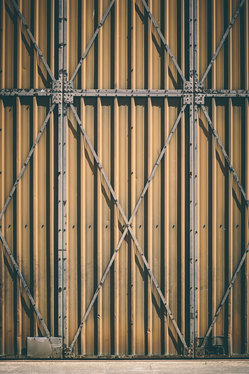 brown metal gate