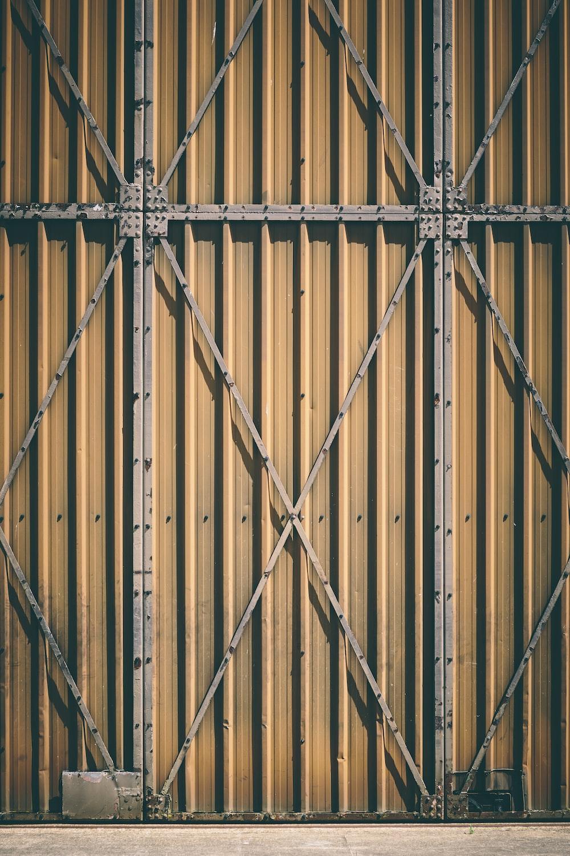 brown metal gate