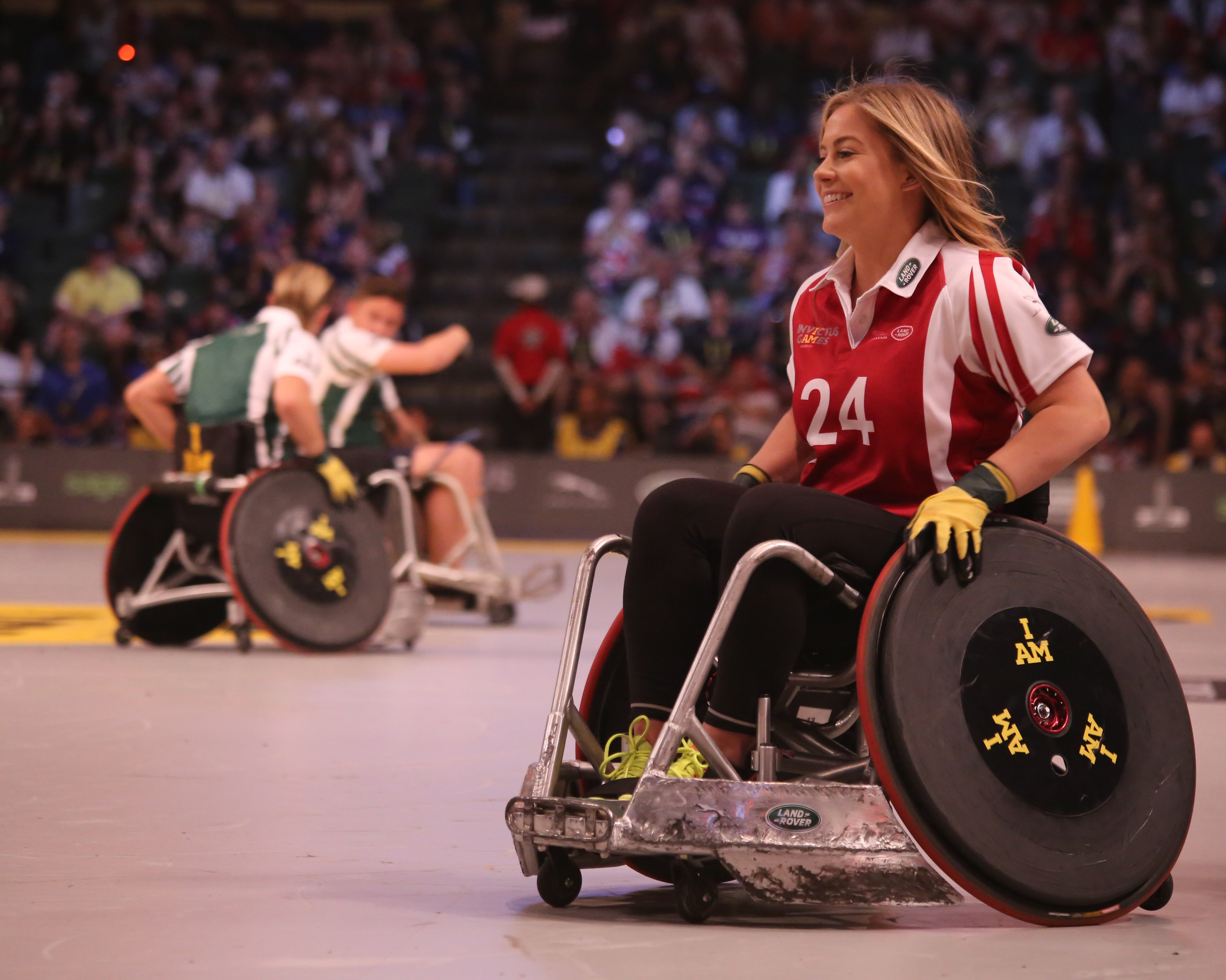 Women playing wheelchair basketball at ESPN Wide World of Sports Complex