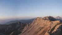 Sunset over Serles mountain