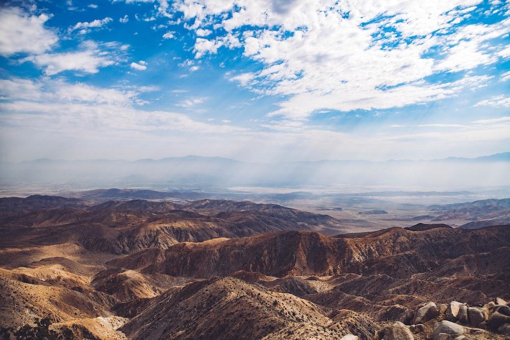 birds eye view of mountain