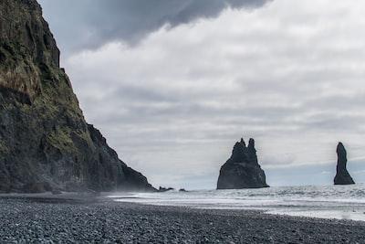 Rocky coastline at Iceland
