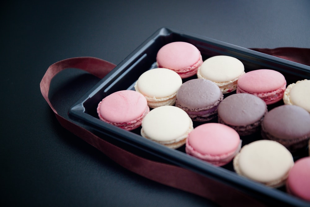 French macaroons platter